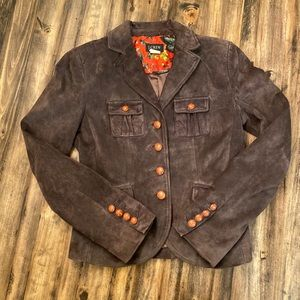 J Crew Brown suede Blazer Jacket